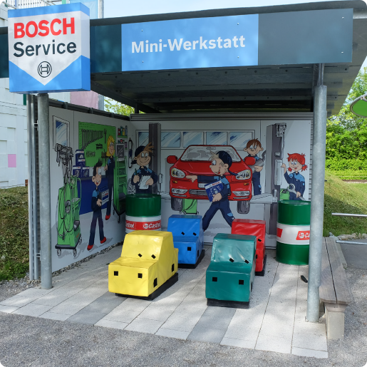 Mitmachland_Bild_>Bosch Car Service Mini-Werkstatt