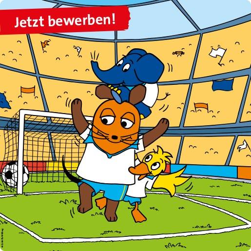 Ravensburger_Spieleland_Tischkickerturnier_Jubel_Maus_Ente_Elefant