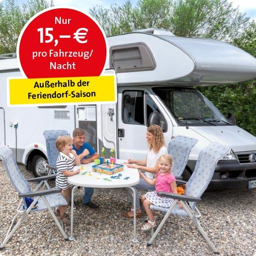 Wohnmobil-Stellplatz_Bild_Angebot Preis pro Nacht außerhalb Feriendorf Saison