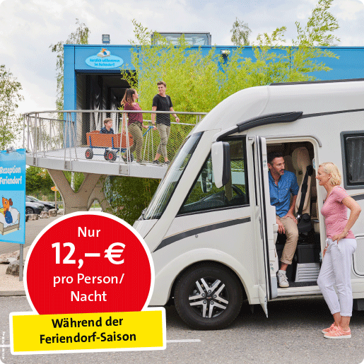 Wohnmobil-Stellplatz_Bild_Angebot Preis pro Nacht während Feriendorf Saison